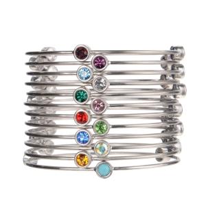 birthstone bangels silver